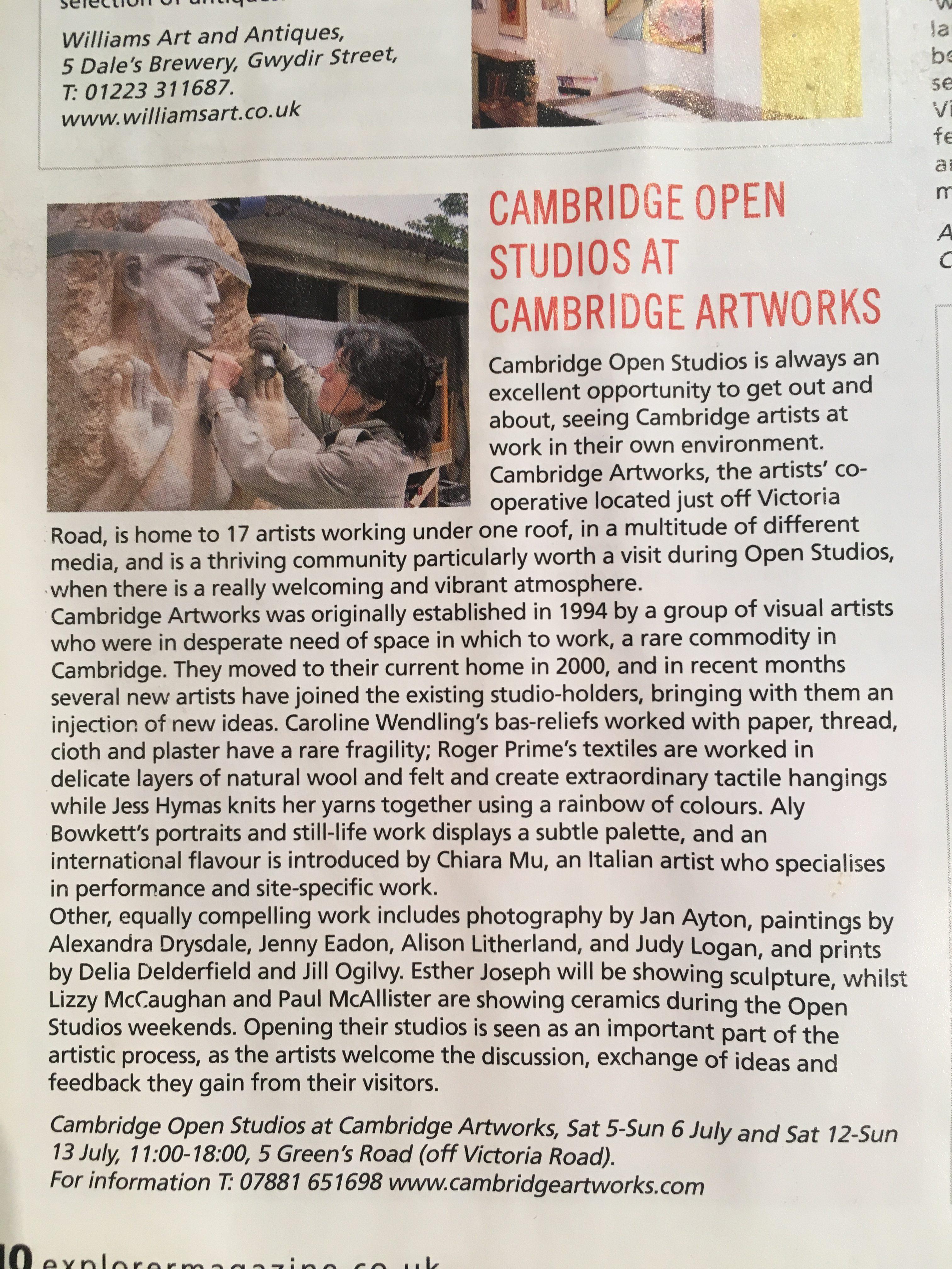 Cambridge Open Studios at Cambridge Artworks